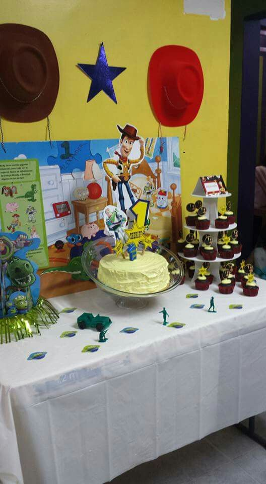 Toy Story One Year Old Boy Birthday Party Decoration Theme Cake Table Dessert Tables