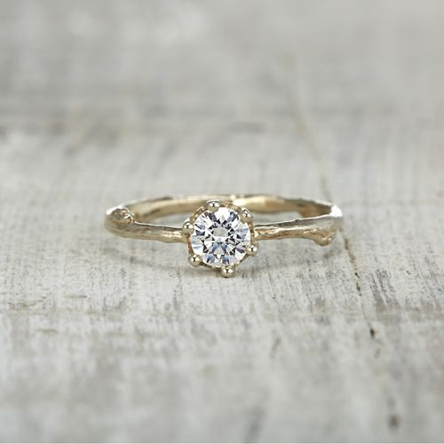 4edaa5f0ed5a5 diamond twig engagement ring, diamond solitaire, solitaire ...