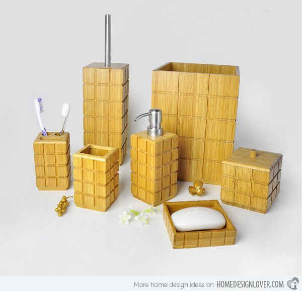 15 trendy modern bathroom accessories set - Wooden Bathroom Accessories Uk