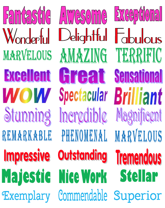 FREE MISC. LESSON - Praise Word Labels | Words for
