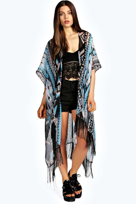 Pache Aztec Tassel Kimono alternative image