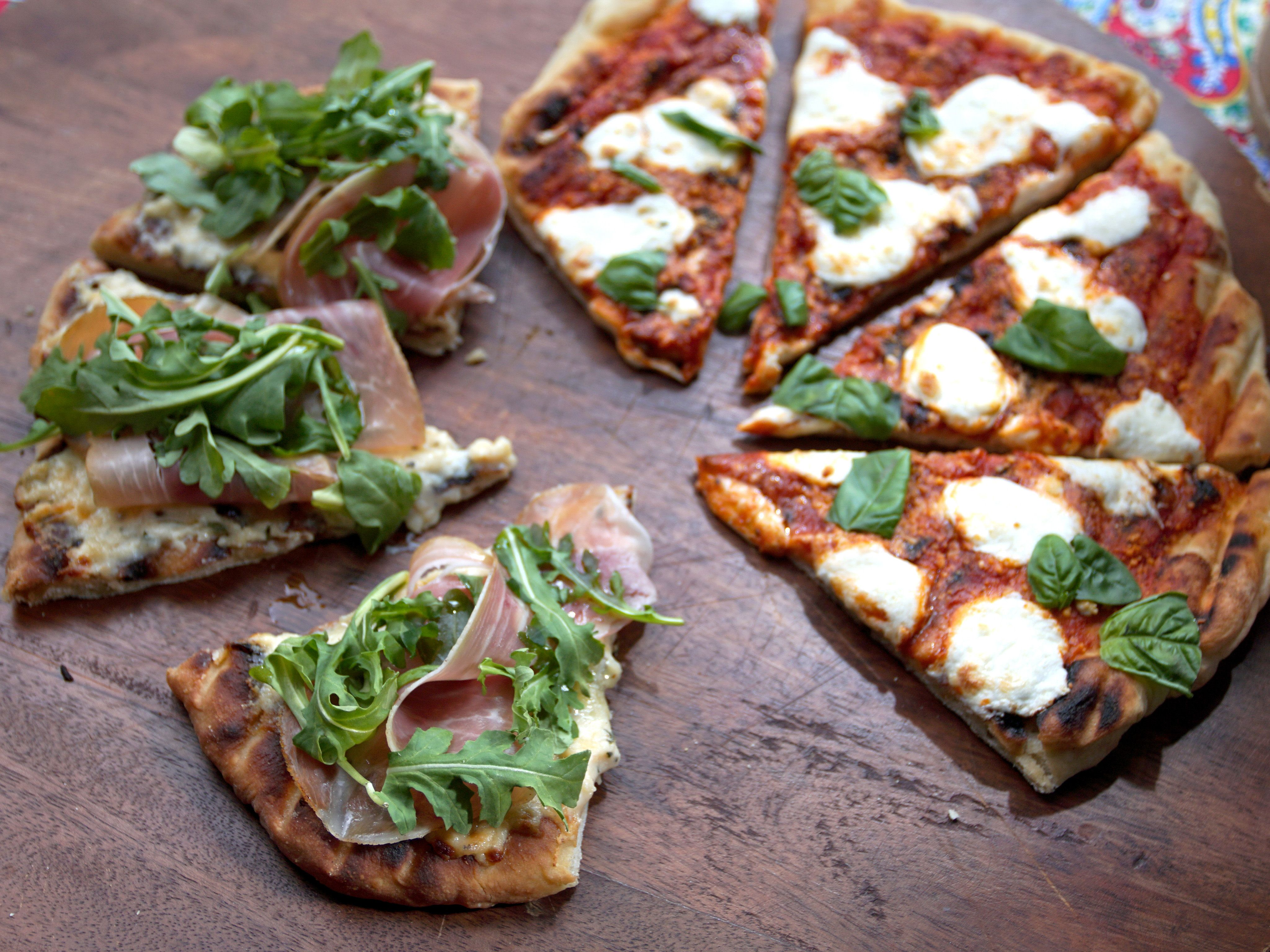 Grilled Pizza Recipe Baked In Vermont Food Network Recipes Food