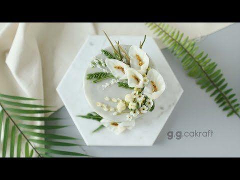 How to pipe the Calla flowercake (Korean Buttercream Flowercake ) - YouTube