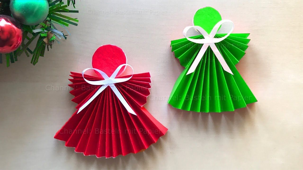 how to make a paper angel tutorial for easy paper angel