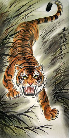 Chinese Zodiac Tiger Tattoo Chinese Tiger Painting More Tiger Tattoo Tiger Painting Tiger Art