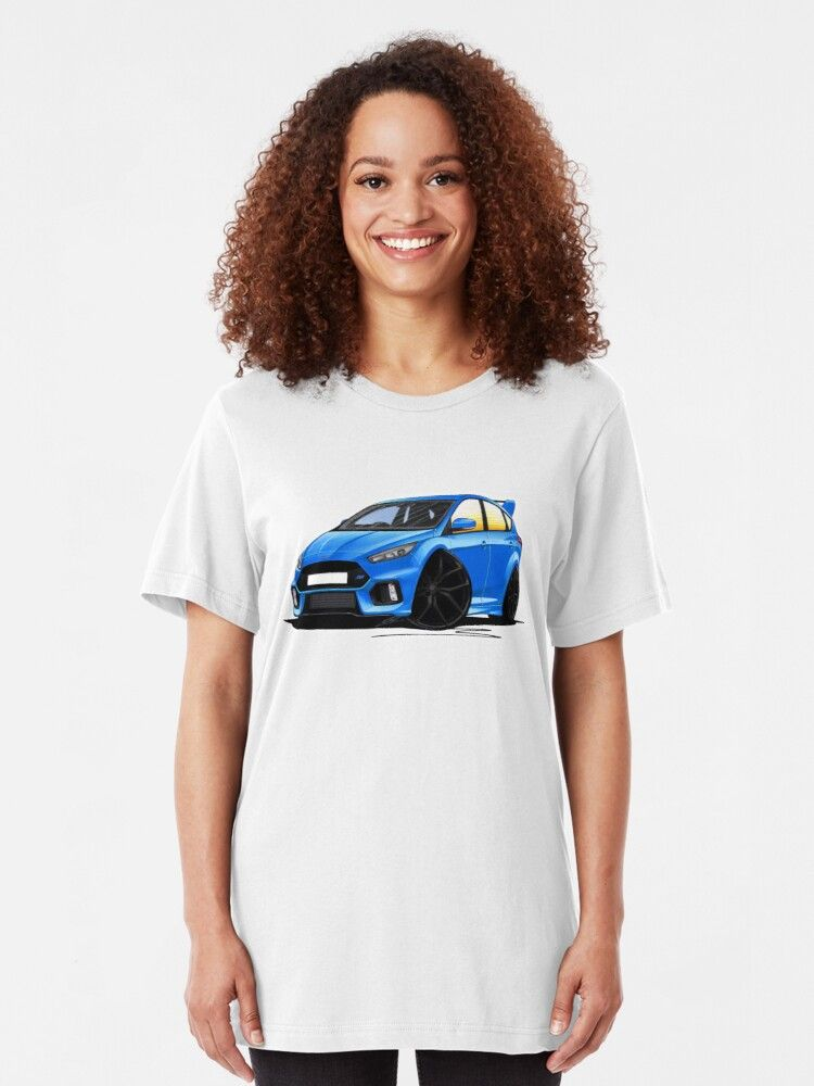 Ford Focus Mk3 Rs Blue T Shirt By Yeomanscarart Ad Focus
