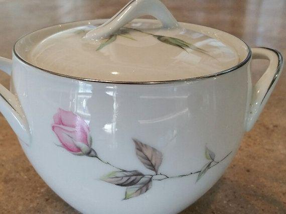 China Sugar Bowl estilo casa Alba rosa Sugar por LoveAndLegacies
