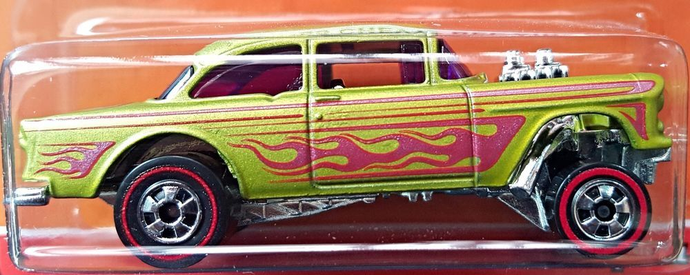 Hot Wheels 2015 Heritage Redline 55 Chevy Bel Air Gasser Gold