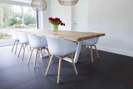 10x Vierkante Eettafel : Afbeeldingsresultaat voor eettafel witte poten houten blad