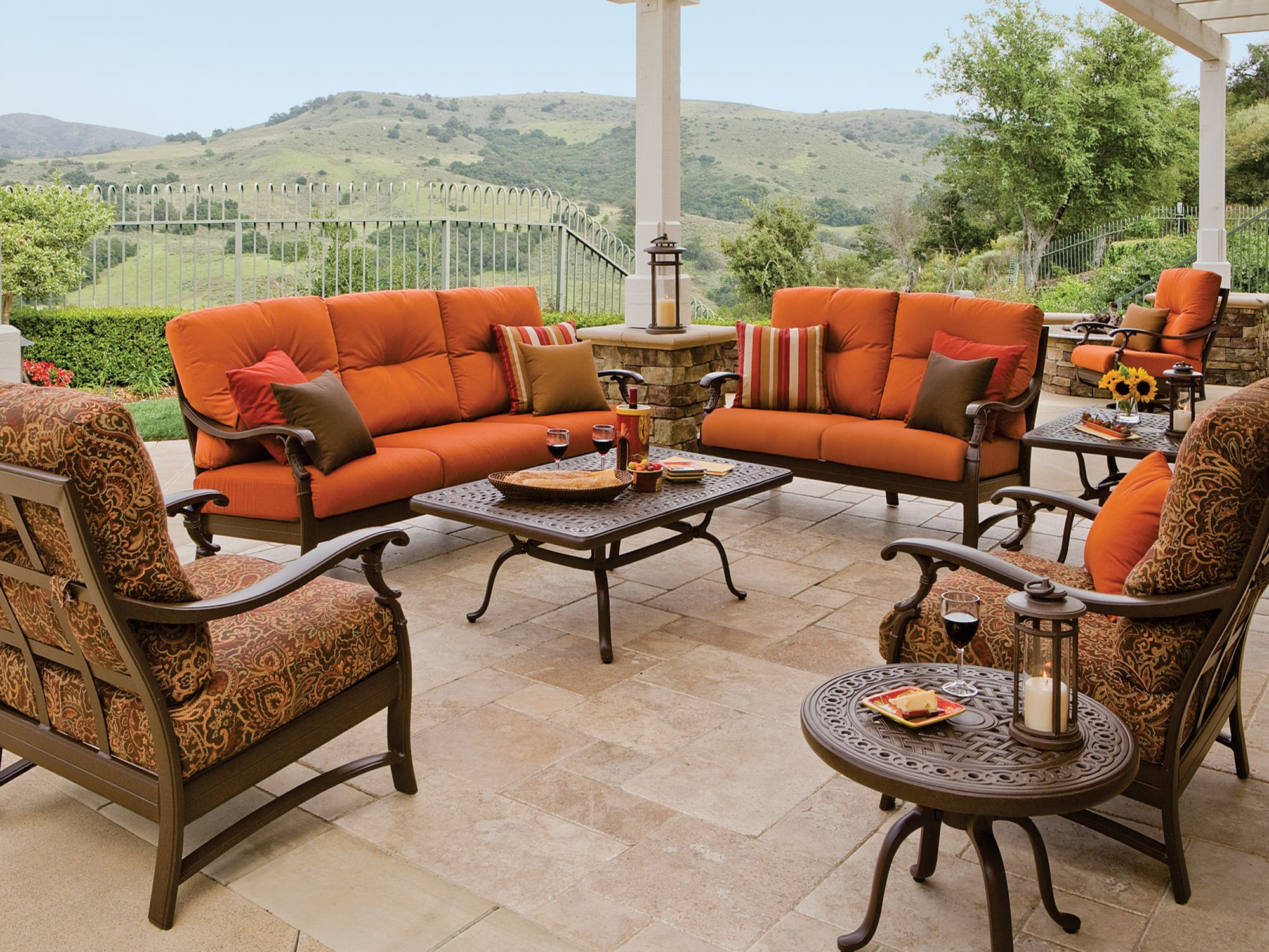 luxury residence tropitone furniture cushions in patio premium replacement your outdoor for chair inspiration