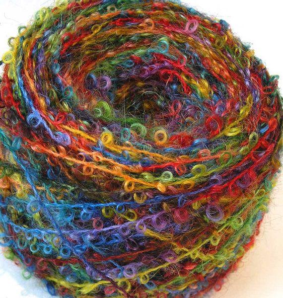 Boucle Yarn Hand Dyed Wool Yarn - Fire Star | Garne | Pinterest ...