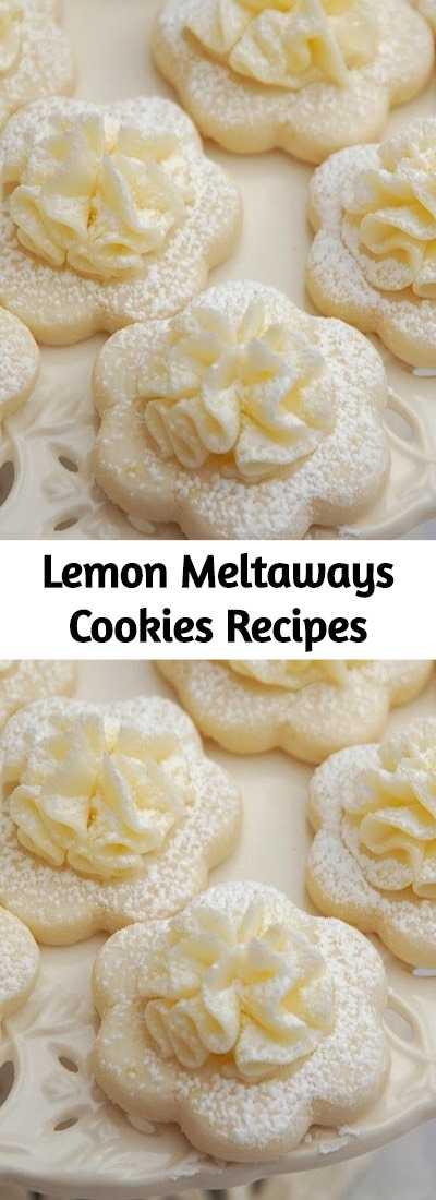 Lemon Meltaways Cookies Recipes -