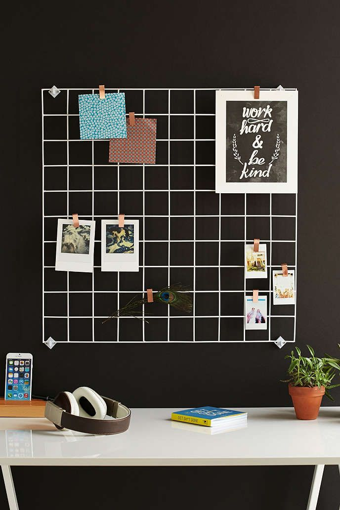 Wire Wall Square Grid In 2019 Wire Grid Wall Wall Decor