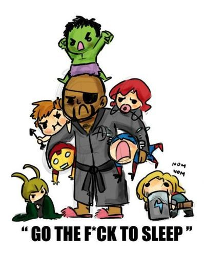 "Super Cute ""Avengers"" Fan Art. This made my day haha"