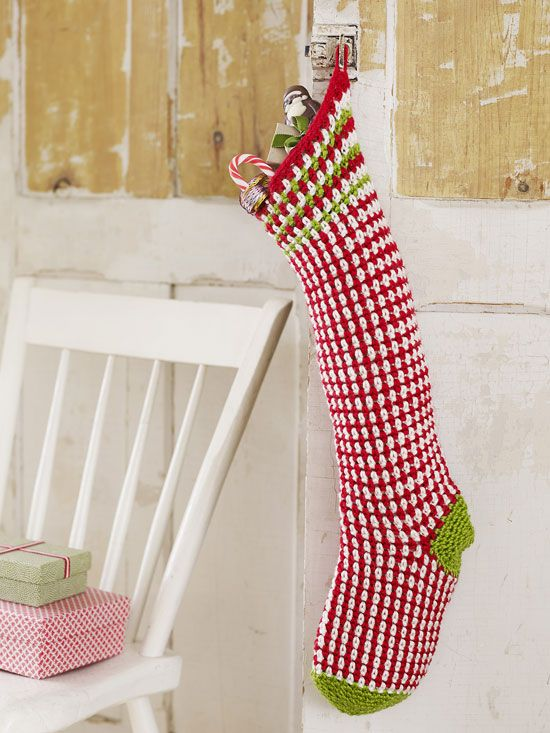 Crochet Christmas Stocking Pattern Diy Crochet Christmas