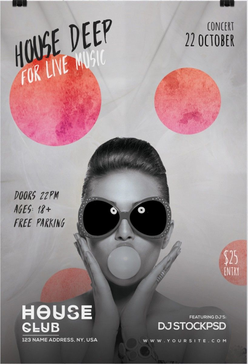 House Deep Live – Free PSD Flyer Template | Free Flyer Template ...