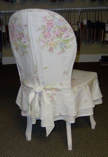 Shabby Slipcovered Chair