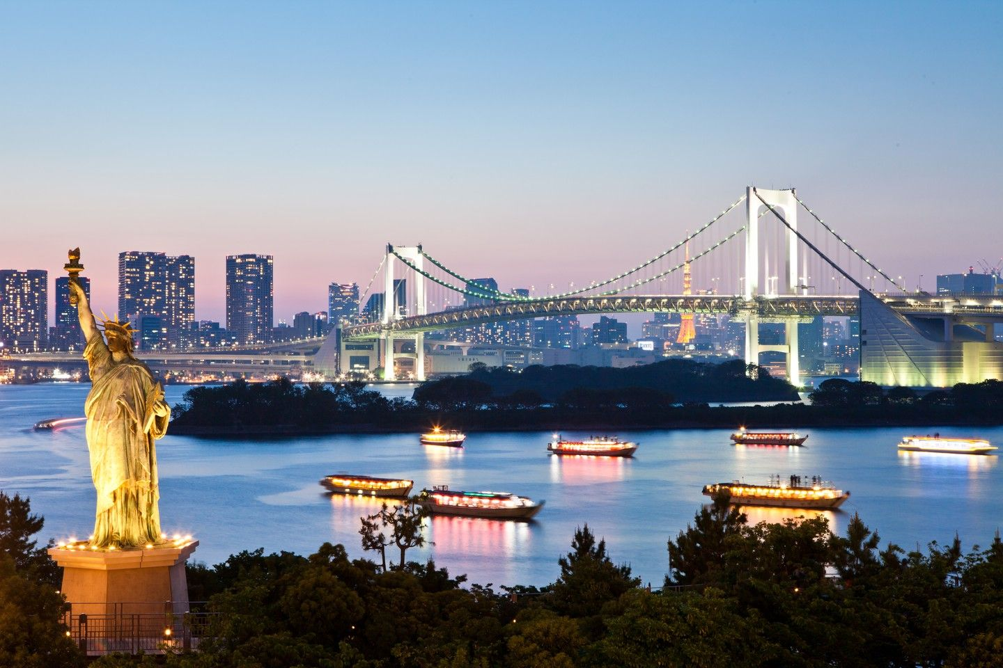 Odaiba of Night View - OGQ Backgrounds HD