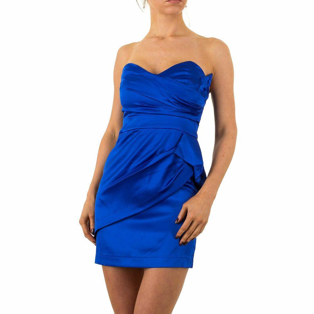 kurzes satin damen kleid 34 blau 3780 0€ in 2020   kleid 34