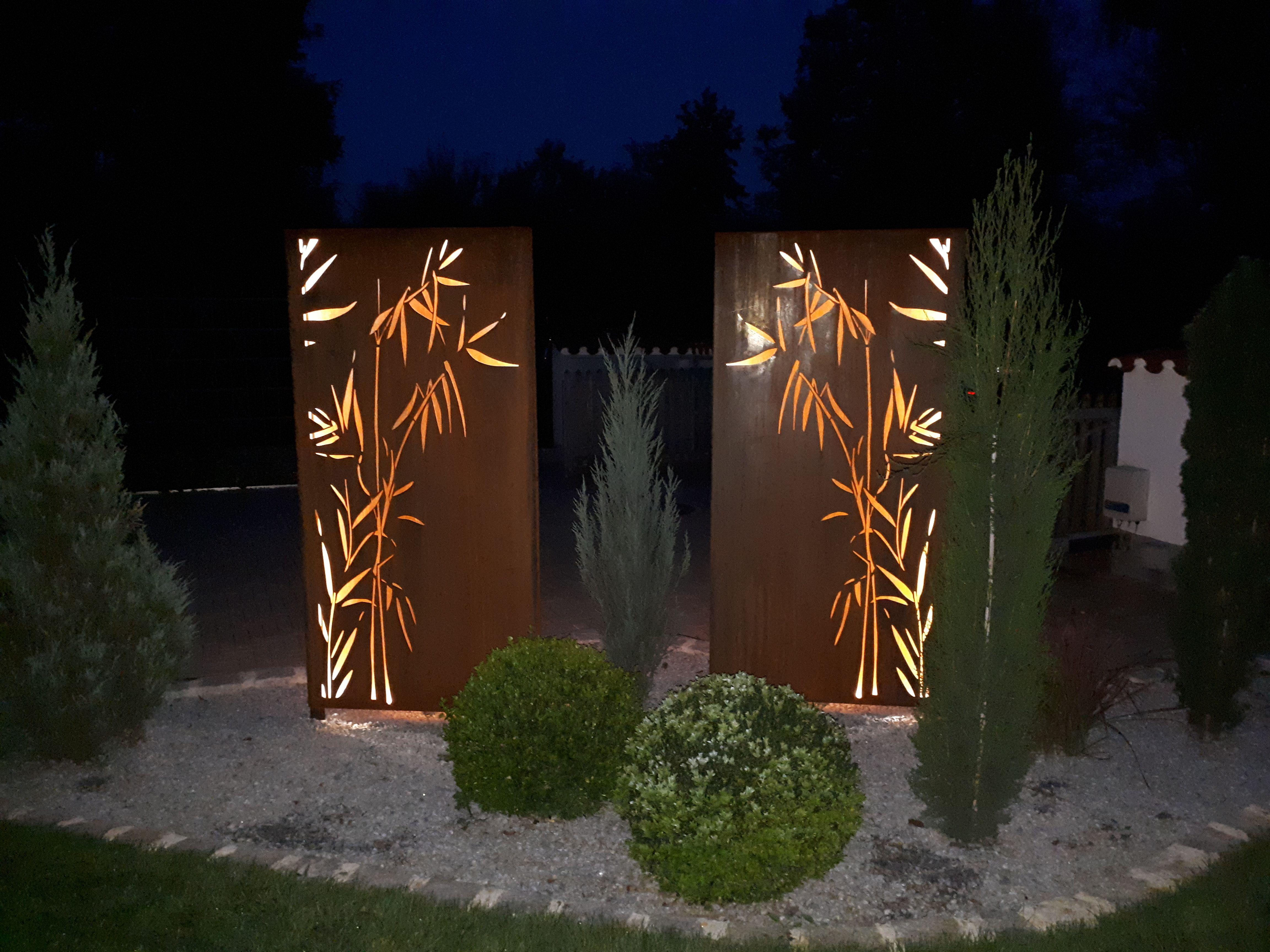 Sichtschutz Fur Den Garten Aus Corten Stahl Rost In Farbe