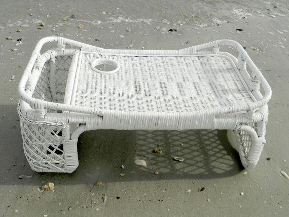 wicker breakfast in bed tray serving tray with magazine and cup