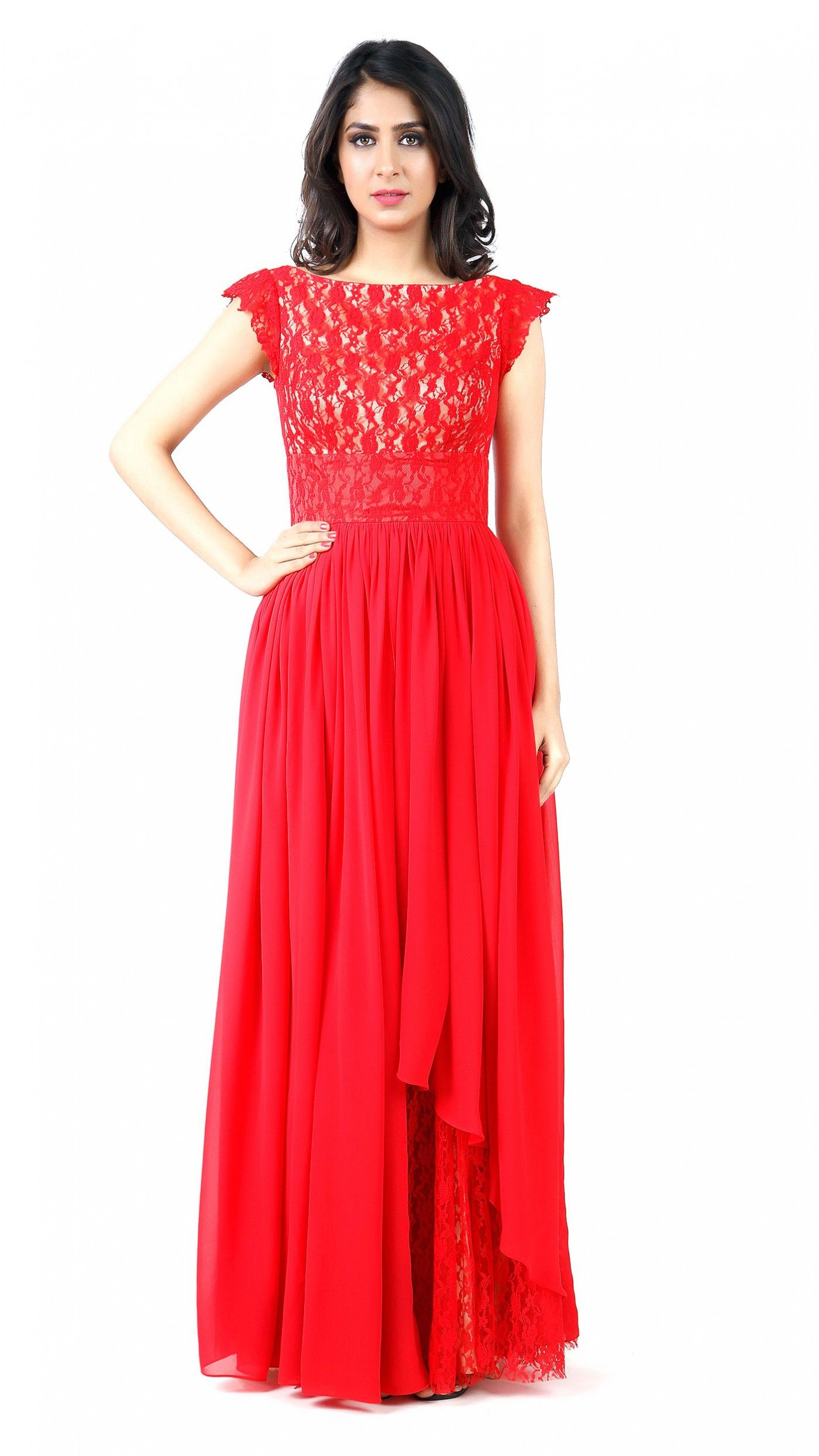 Red lace gown beauty pinterest red lace gown red lace and gowns
