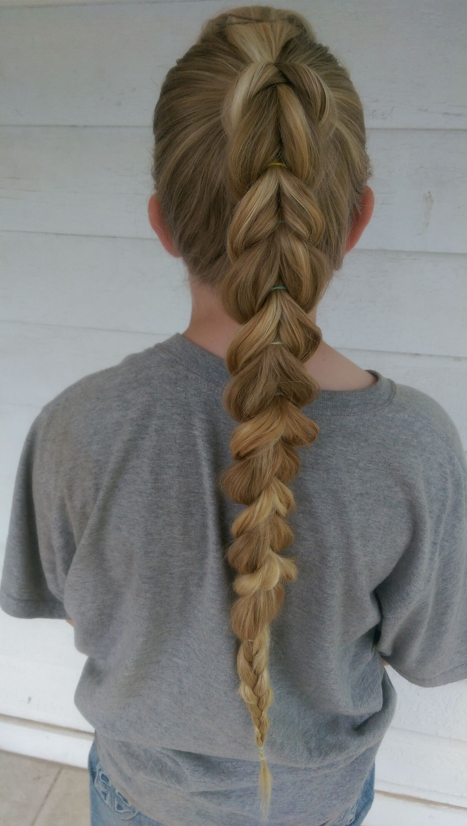 Pull Through Braid With Front Bump Accent Much To Do About An Updo