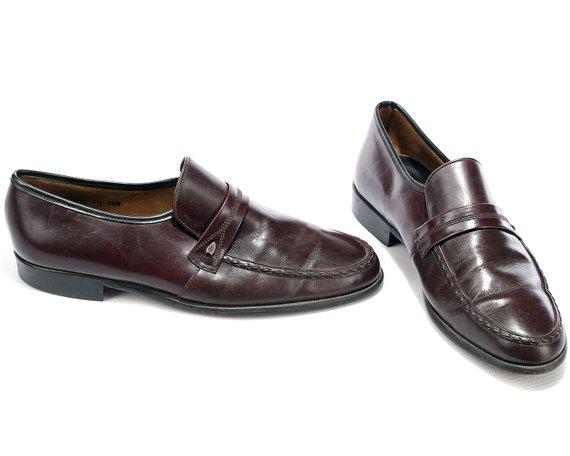 33360ec0ca10b Us men 8.5 Vintage Leather Loafers for Men 80s Mens Slip On Brown ...