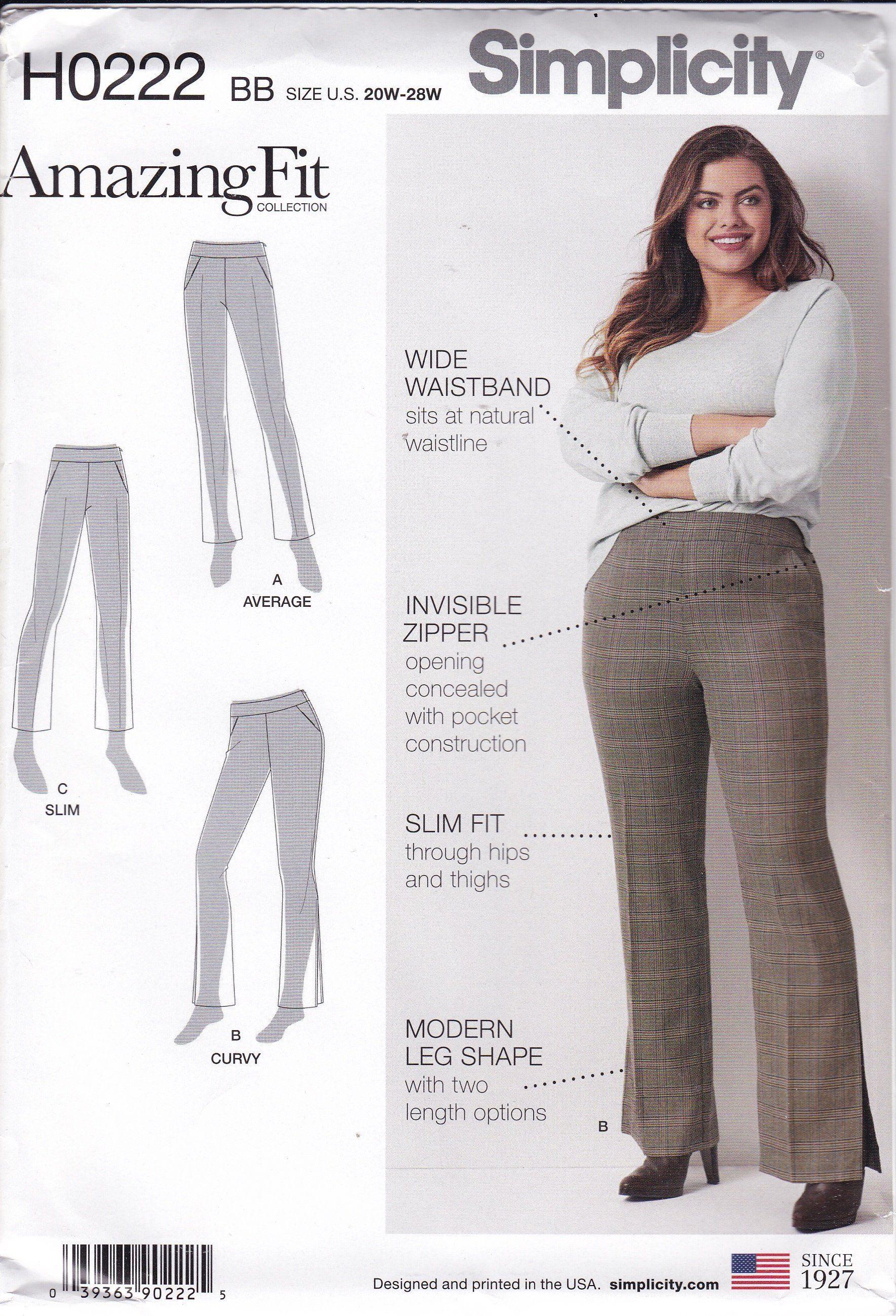 959cc4127b FREE US SHIP Simplicity 0222 8744 Sewing Pattern Amazing Fit Pants ...