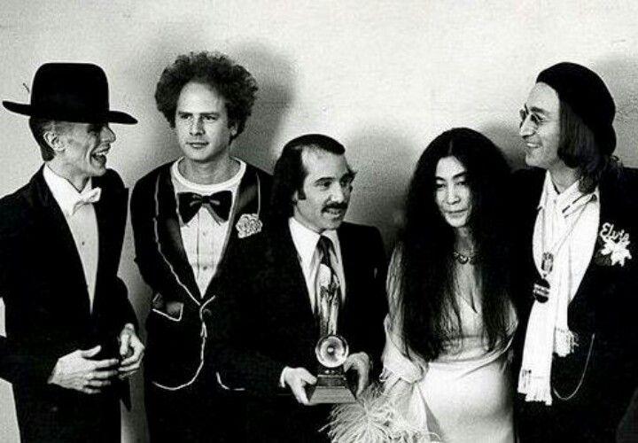 Bowie Garfunkel Simon Ono Lennon John Lennon And Yoko Paul Simon John Lennon