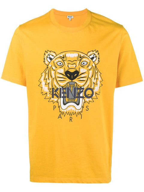 21e09fd07566 Kenzo Yellow Tiger Intarsia T Shirt - Farfetch   Men fashion   Mens ...