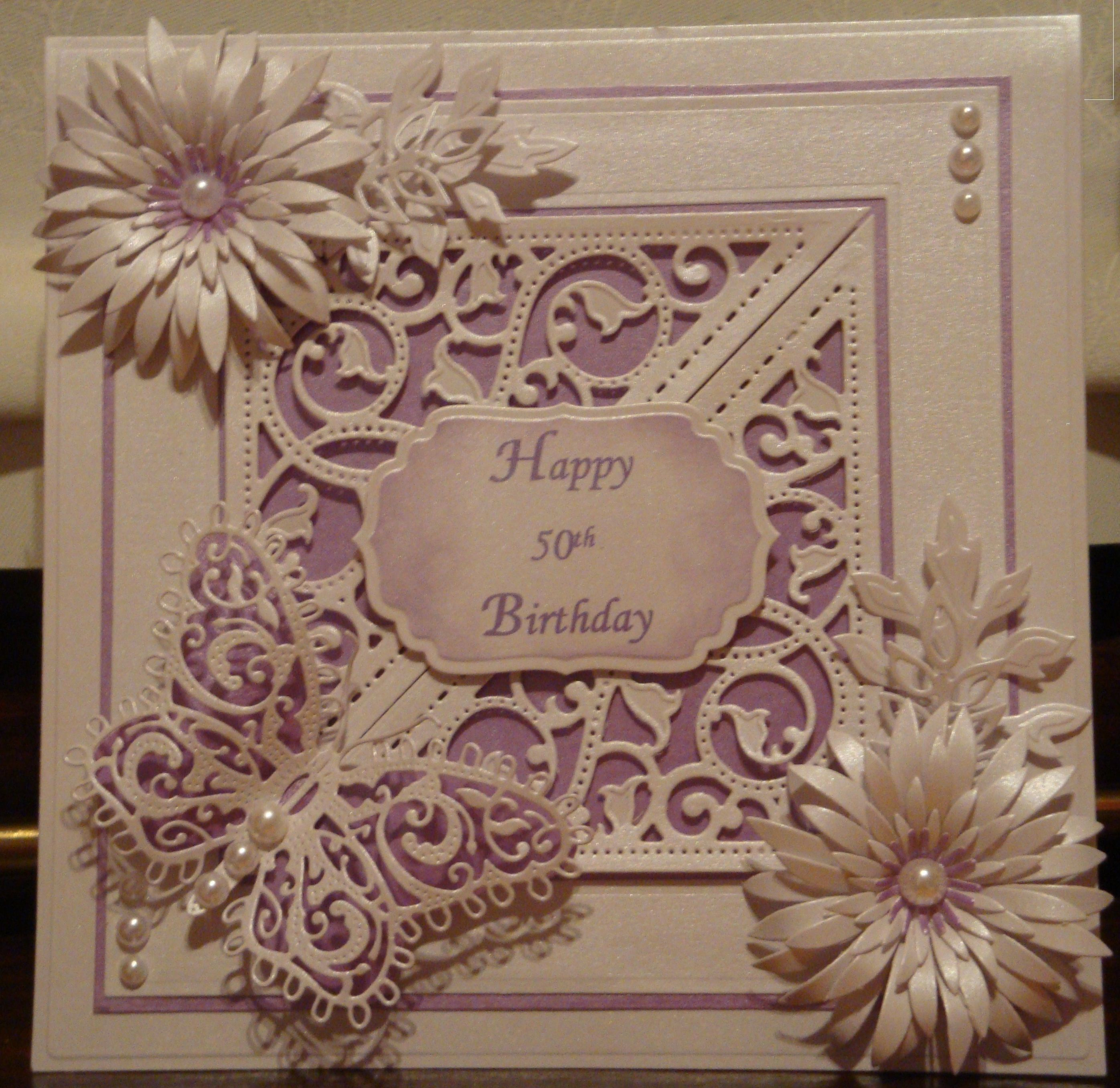 Th birthday card made with spellbinders and marianne butterfly