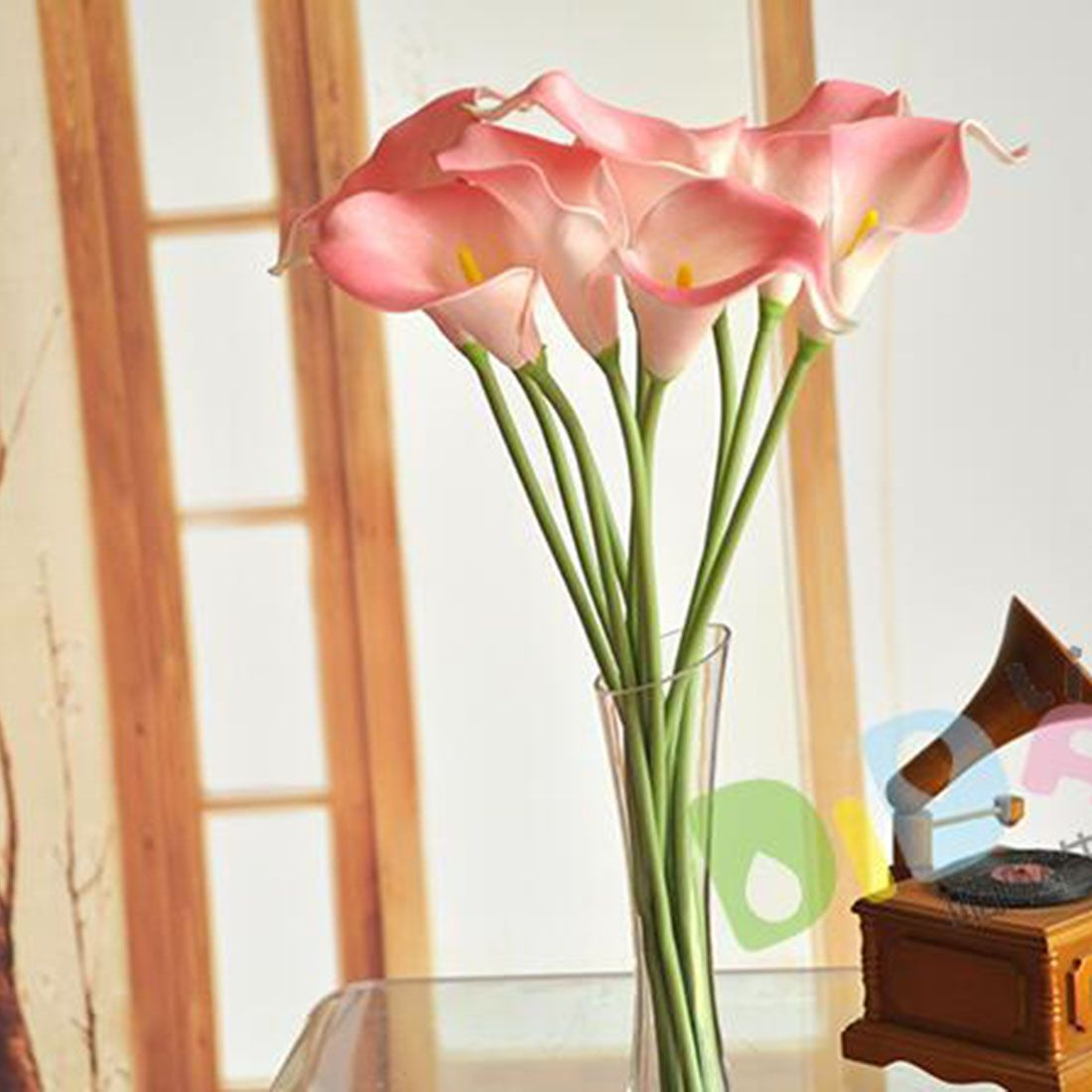 Wedding decoration ideas for home  Handmade DIY Colorful Artificial Calla Lily Flowers Fake Flower Home