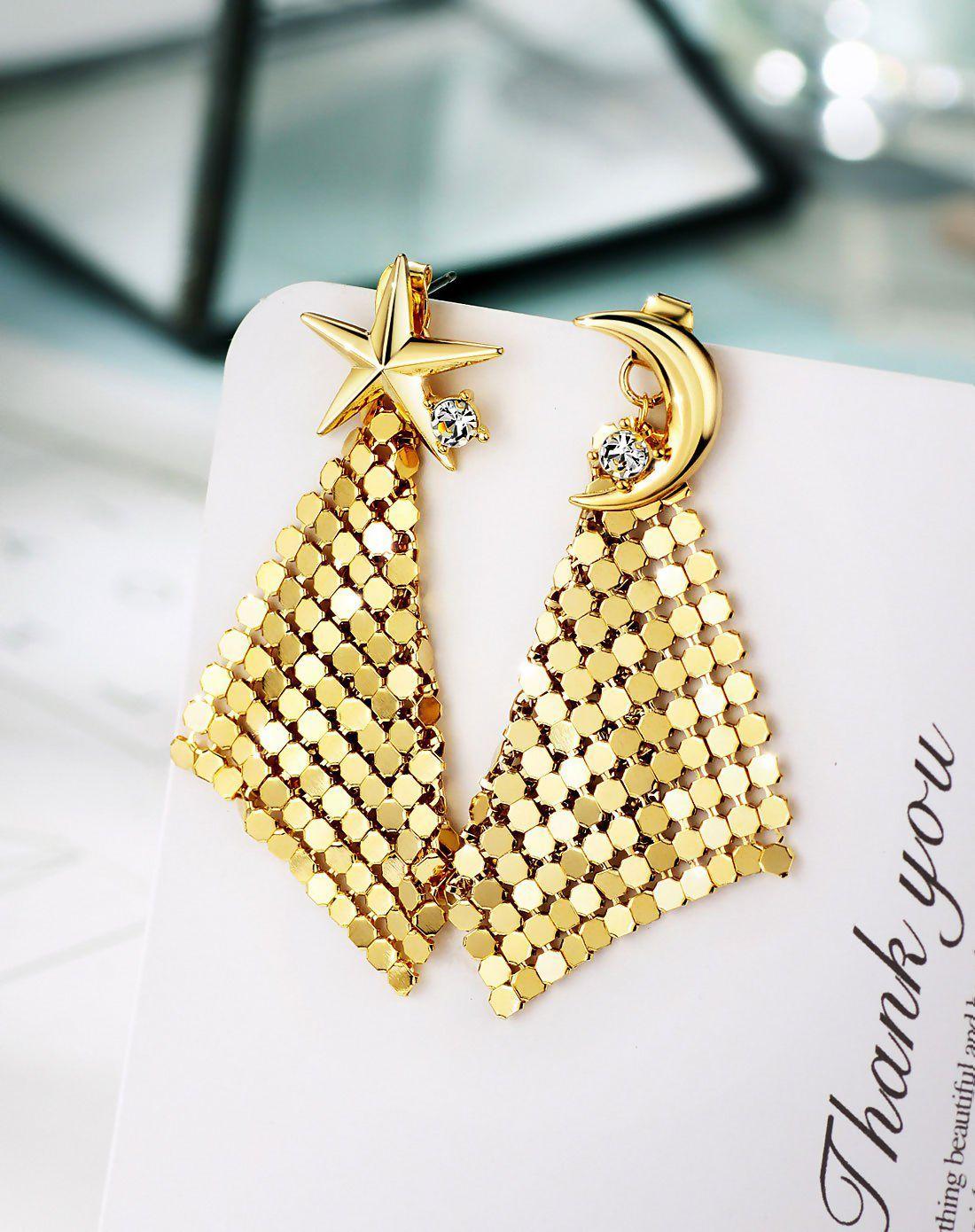 Gold Inside Out Cubic Zirconia Chandelier Earrings | Chandelier ...