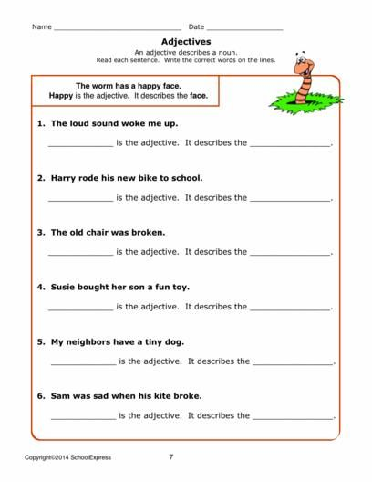17000 Free Worksheets Adjectives Worksheets Free Worksheets Free adjective worksheet for grade