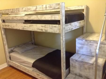 Bunk bed build my do it yourself home project from ana white diy projects solutioingenieria Choice Image