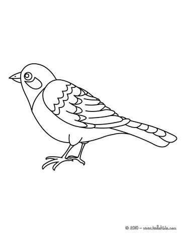Good Nightingale Coloring Page