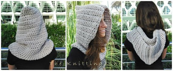 Cowl neck Merino 100% Hooded Cowl Baby Toddler by KnittingSheep