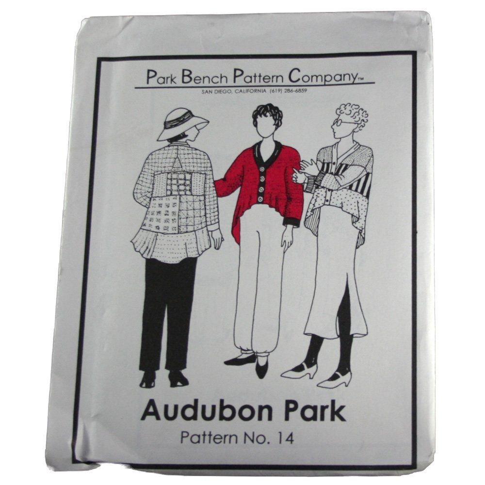 Only 4 99 Park Bench Pattern Company Sewing Pattern 14 Audubon