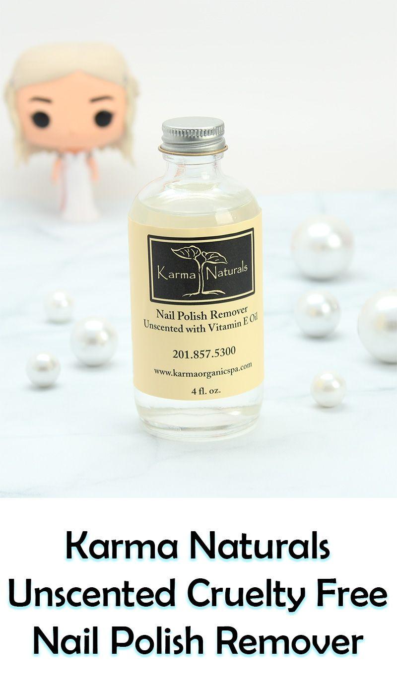 Karma Naturals Unscented Nail Polish Remover | Karma, Natural and ...