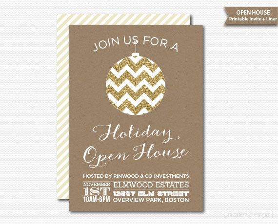 Holiday Party Invitation Celebrate the Season Pink, Gold Faux