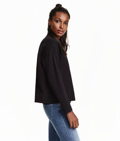 Mock Turtleneck Sweater | Black | Ladies | H&M US | My Other Likes ...