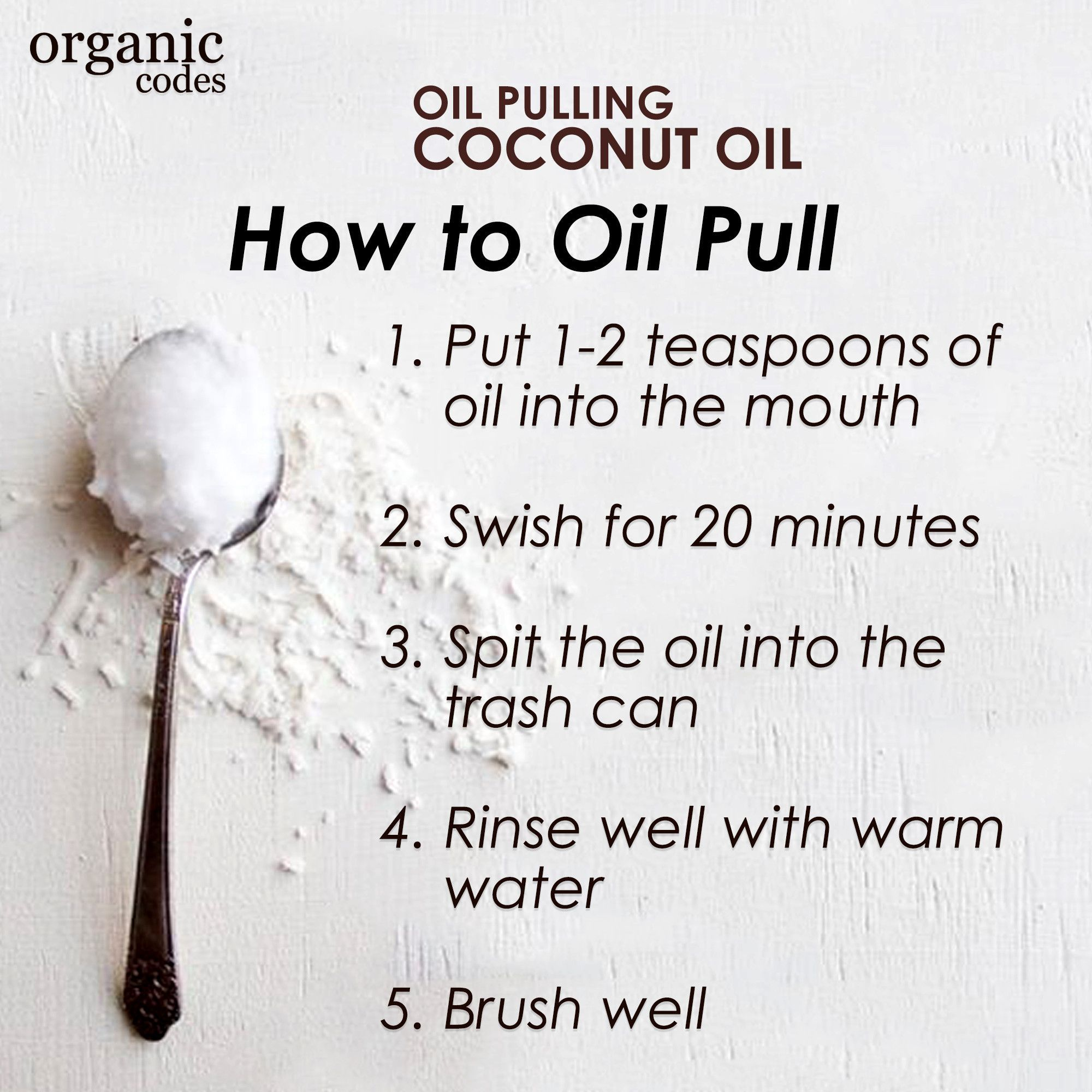 How to Oil Pull with Organic Codes Oil Pulling Coconut Oil, Ancient Ayurvedic therapy