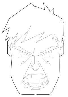 Maschera Di Hulk Da Stampare E Colorare Maschera Hulk Maschere