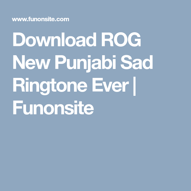 new song ringtone download sad