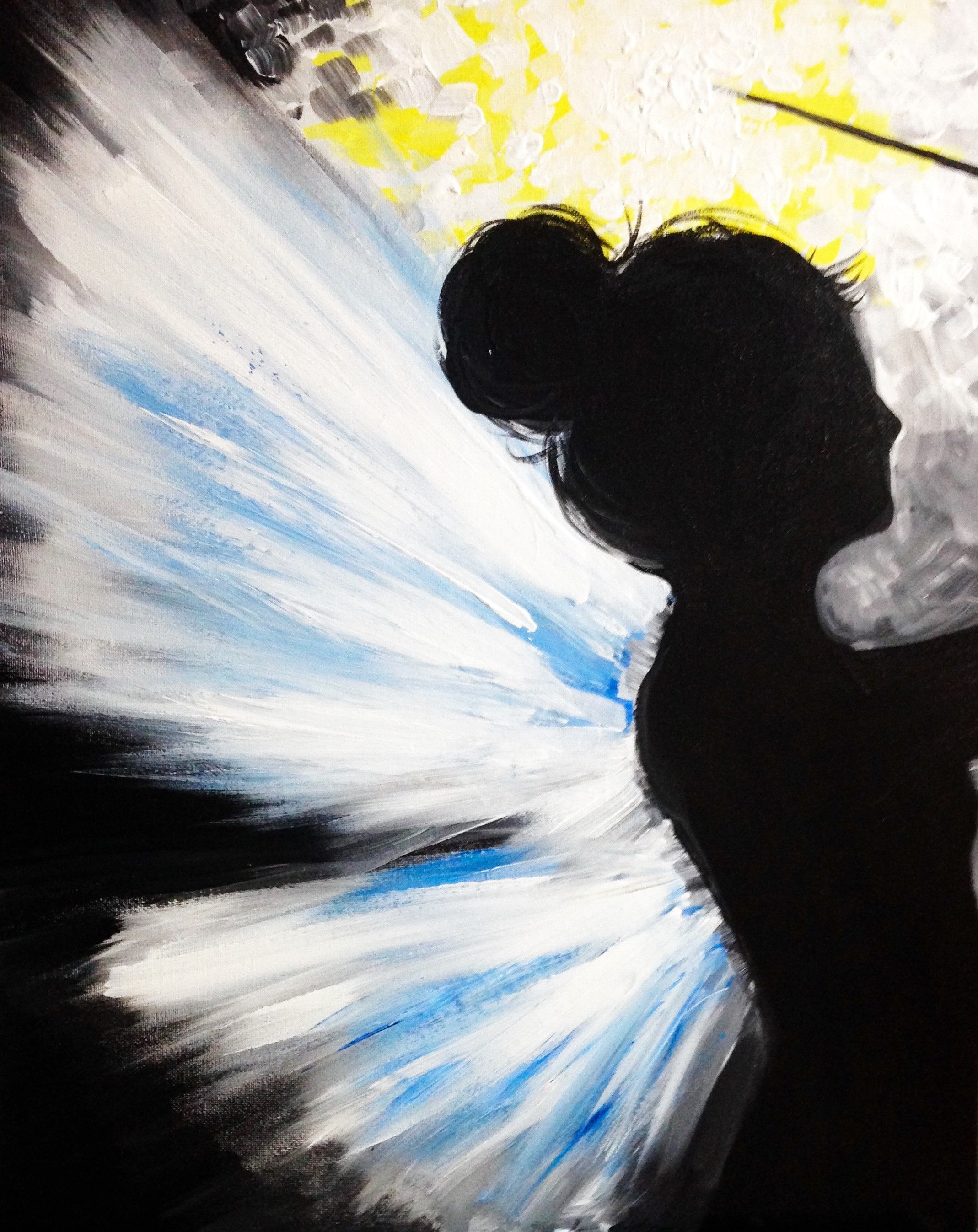 Fairy Painting Silhouette