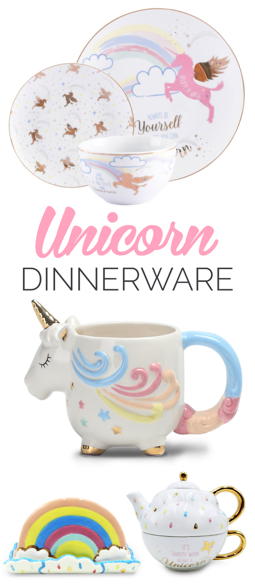 New Unicorn Tableware Including Teapot From 3 Asda George Home