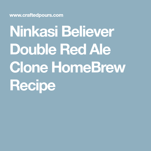 red chair nwpa clone designer covers smeaton grange ninkasi believer double ale homebrew recipe beer recipes