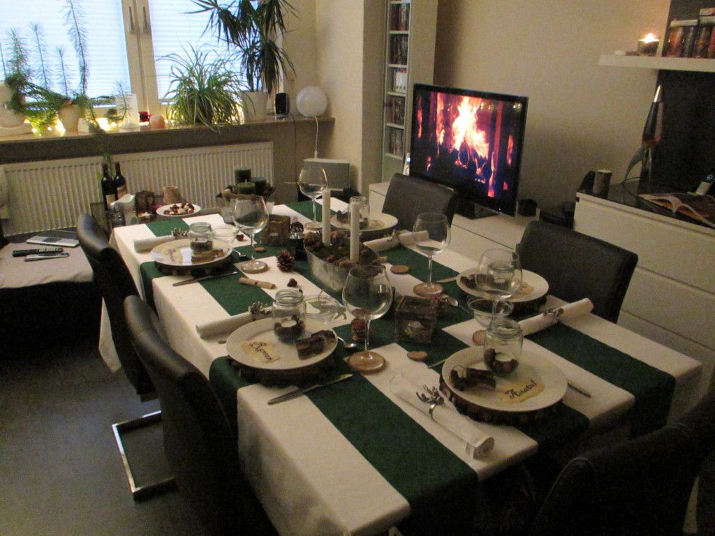 Tischdekoration: Im Wald  Table decoration: Into the forrest