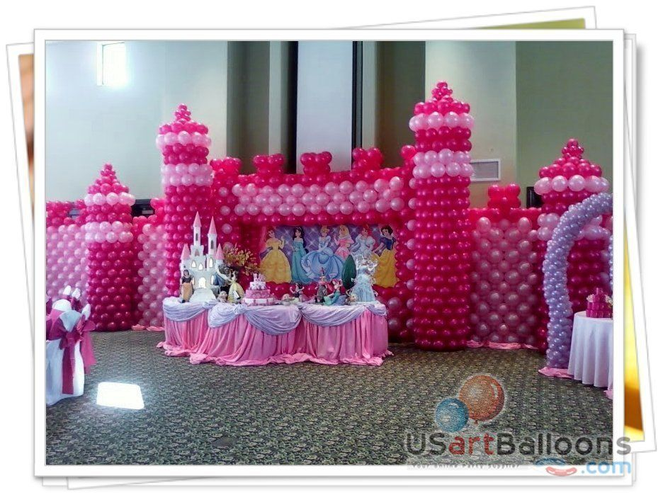 Princess Theme Decoration Ideas Part - 50: Princess Theme Centerpieces | Princess Balloon Decorations